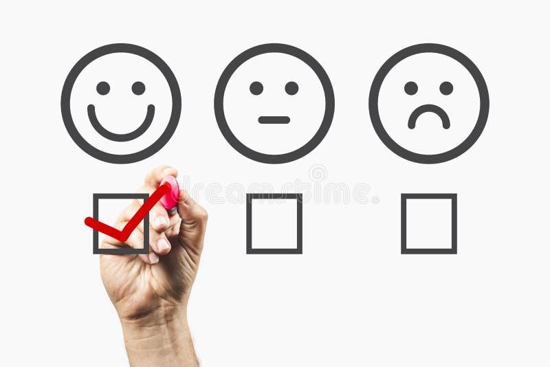 Feedback von Kunden - Umfragekonzept - positive Rückmeldungen stockfotografie