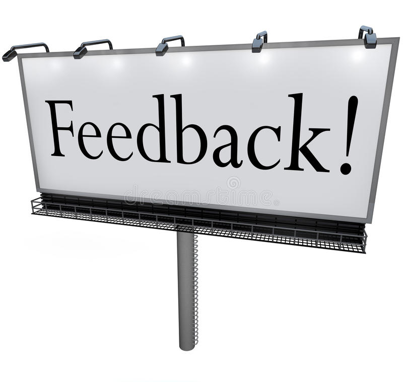 Download Feedback Word On Billboard Seeking Opinions Comments Input Stock Illustration - Illustration of complain, audience: 31915734