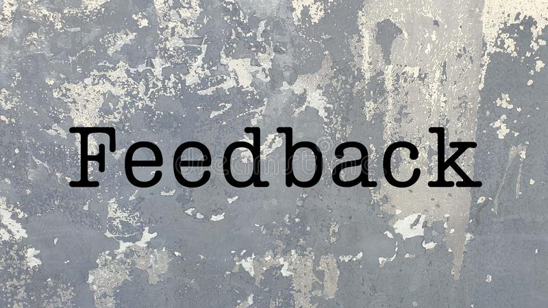 Feedback word presentation business stock images