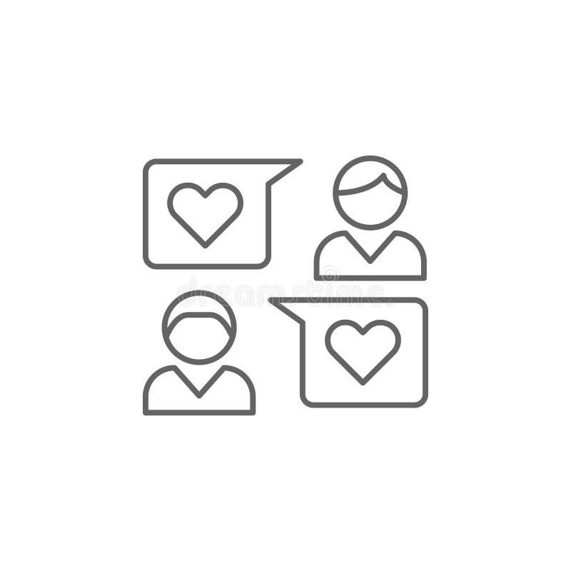 Feedbackfreundschafts-Entwurfsikone Elemente der Freundschaftslinie Ikone Zeichen, Symbole und Vektoren können für Netz, Logo, Mo stock abbildung