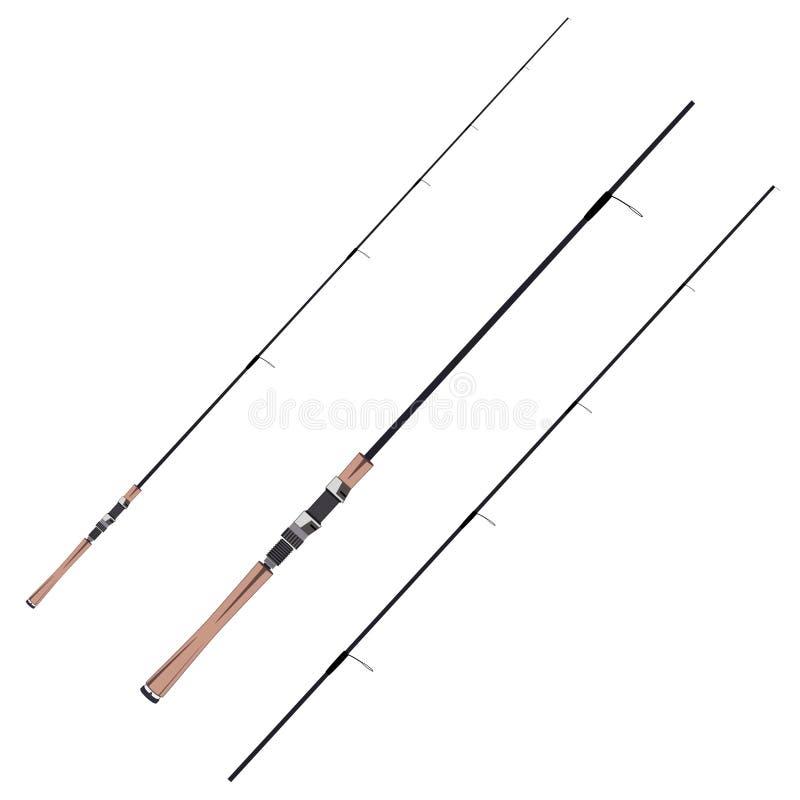 Feeder fishing rods vector flat illustration. Feeder fishing rods. Vector illustration isolated on white background. Flat style design vector illustration