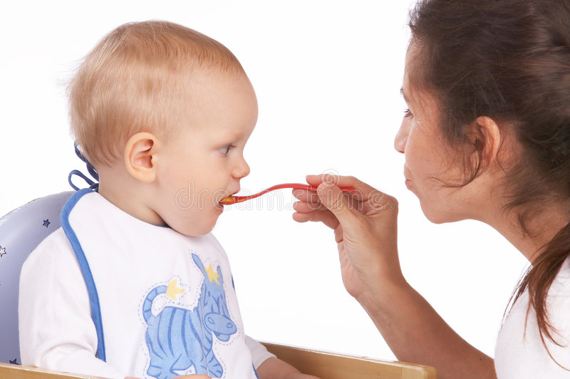 Download Feeding stock photo. Image of emotion, birth, chair, future - 1526404
