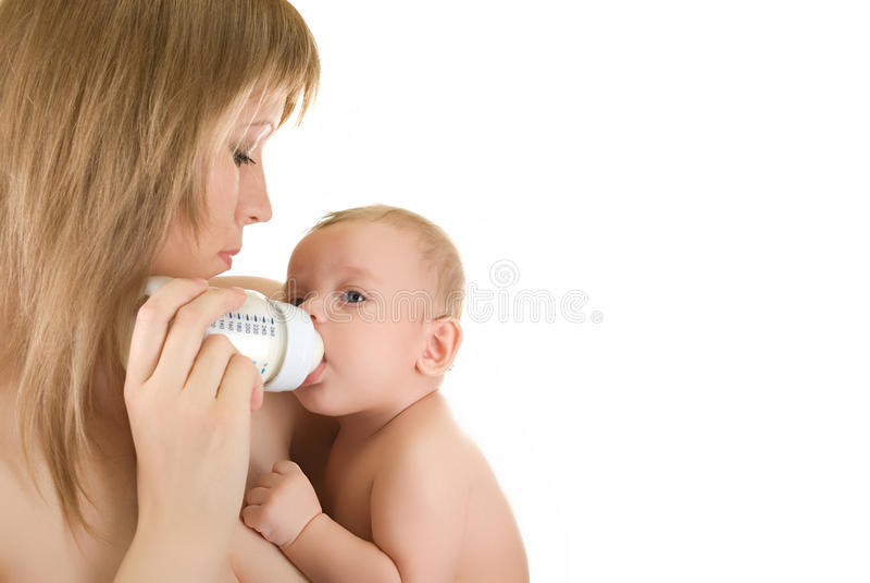 Feeding baby royalty free stock photography