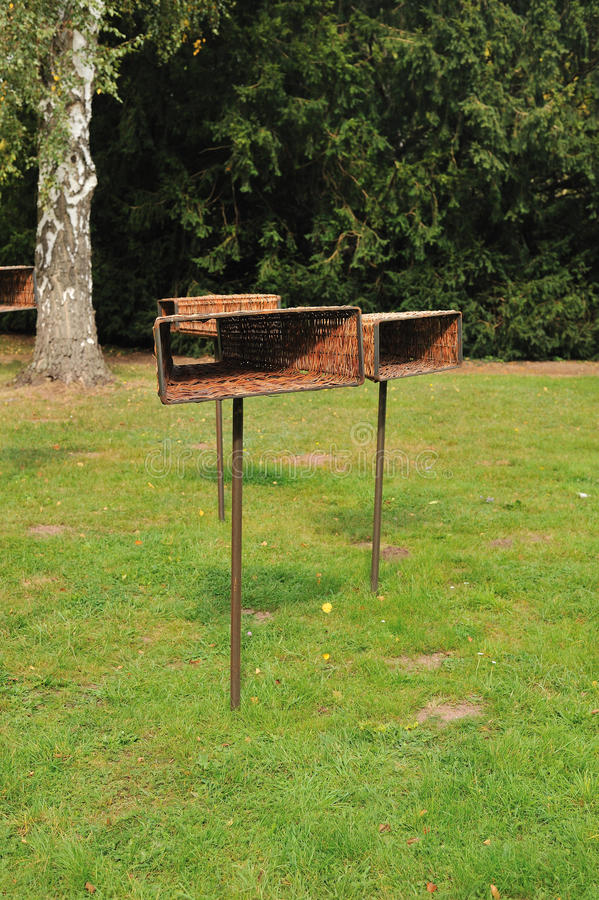 Download Feeding rack for birds stock photo. Image of trough, pine - 21590558