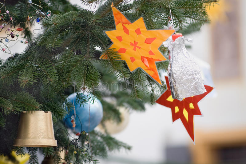 Feegiften bij de vooravond ½ van Christmasï ¿ in Oostenrijk stock foto's