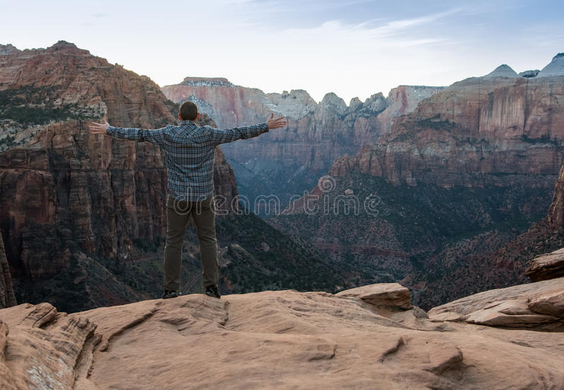 Feel the Canyon Breeze. With copy space stock photo