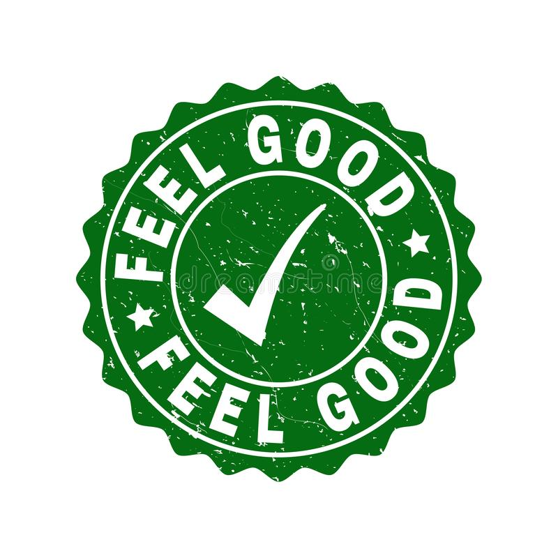 Free Feel Good Grunge Stamp With Tick Stock Photography - 139450582