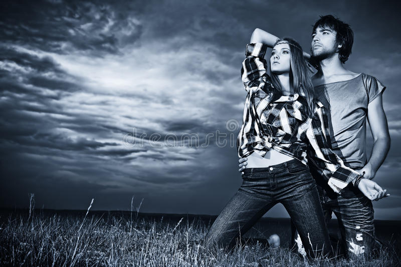 Feel storm royalty free stock images