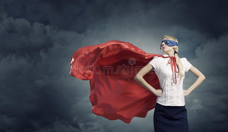 Feel yourself a hero! stock images