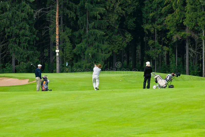 Feeld高尔夫球高尔夫球运动员组 编辑类库存图片