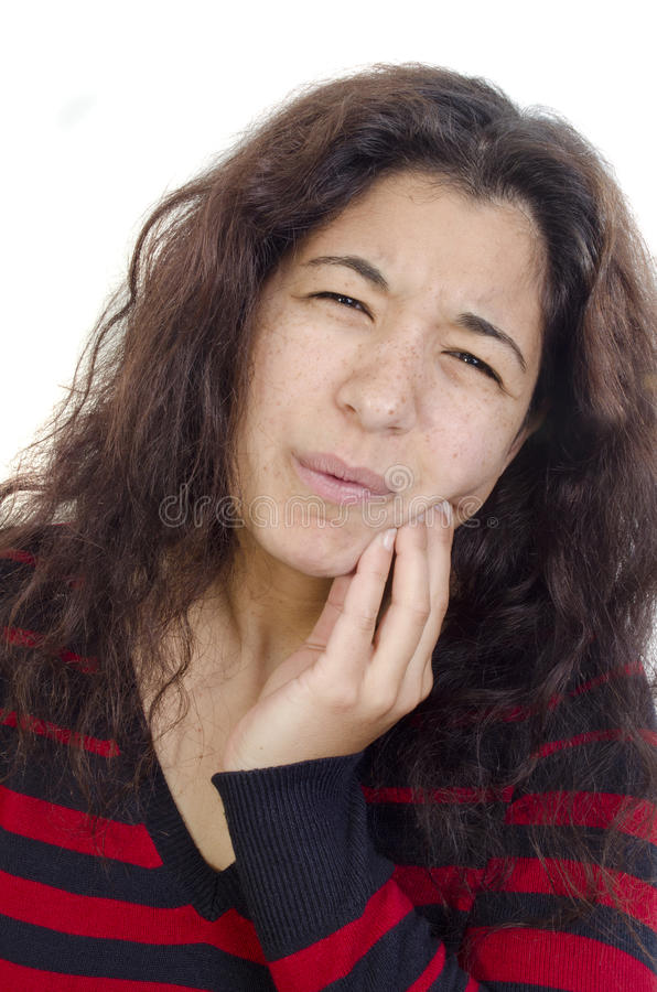 feelen smärtar unga tandkvinnor royaltyfri foto