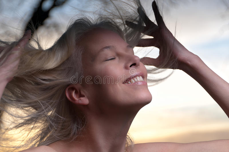 Feeling Alive royalty free stock photography