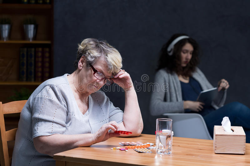 Feeling alone even with family royalty free stock image