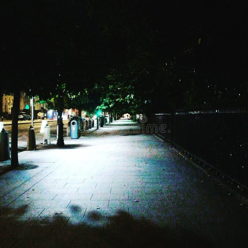 Feeling around Dublin. Night, walking stock photography