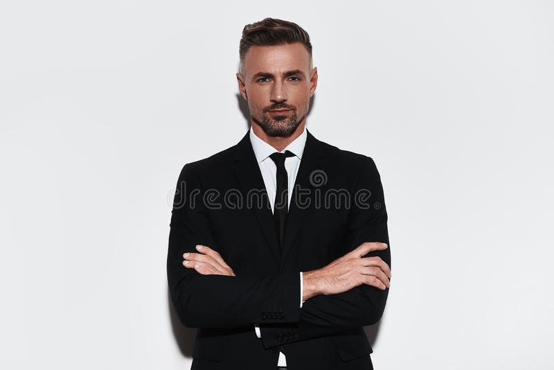 Feeling comfortable in his style. royalty free stock photo
