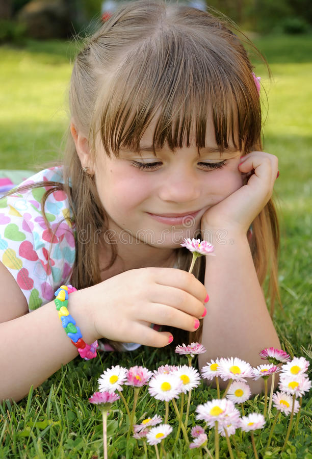 Download Feeling daisies stock photo. Image of color, play, cute - 22322422