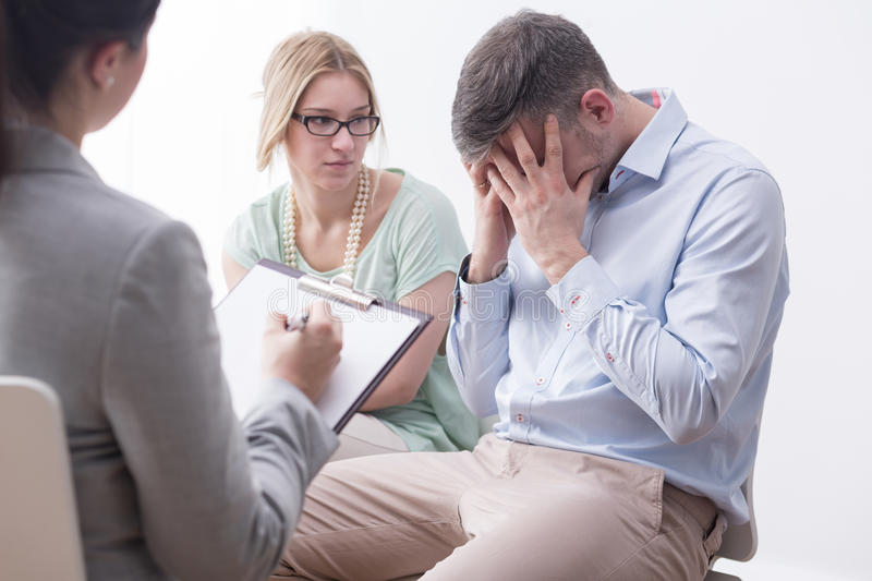 Feeling devastated by difficult circumstances stock image