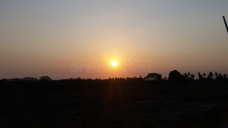 Feeling every sunset stock photography