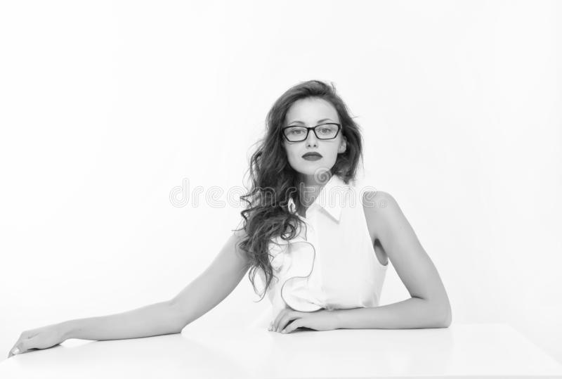 Feeling flirty. Welcome on board. Pretty school teacher or student. Fashion beauty. Business school coach. Dress code. Sexy businesswoman. Back to school. Girl stock photo