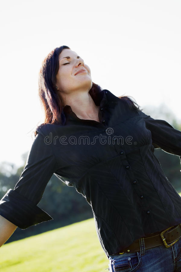 Download Feeling free stock photo. Image of outdoor, free, beauty - 21489840