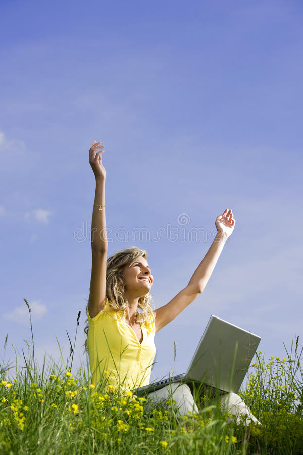 Download Feeling Free With Mobile Working Stock Photo - Image: 26557160