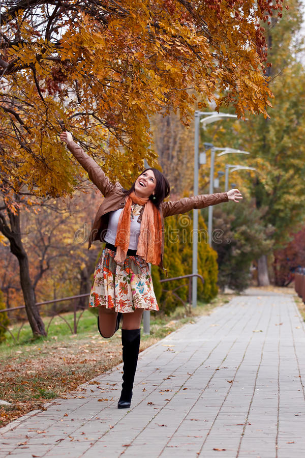 Download Feeling good stock photo. Image of autumn, hands, cool - 22008086