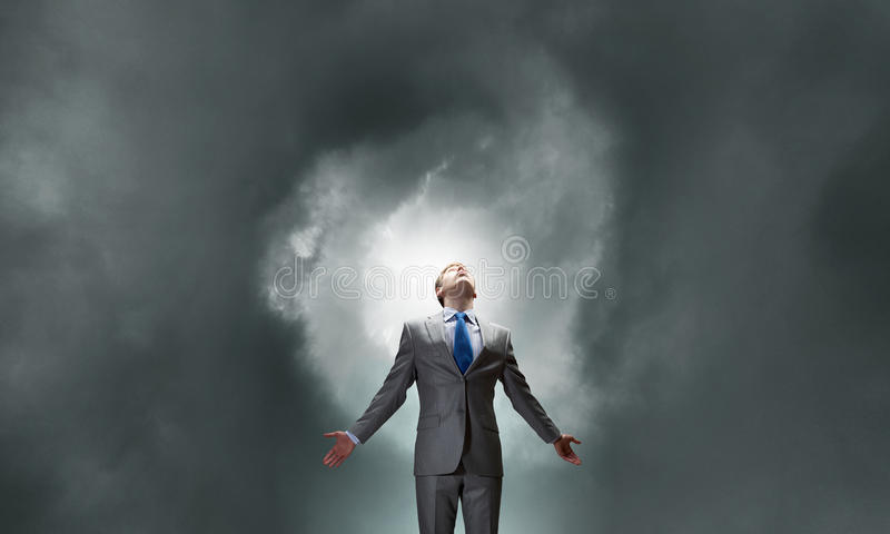 Feeling his power royalty free stock images