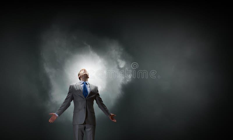 Feeling his power stock photos
