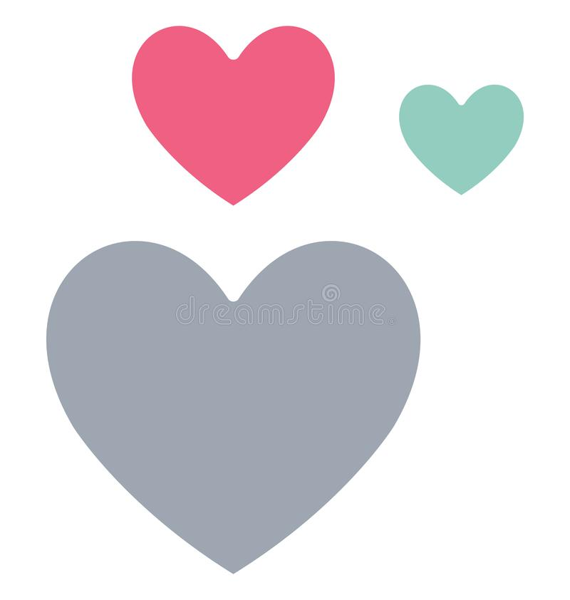 Basic RGB Feeling loved Isolated Vector Icon which can easily modify or edit. Feeling loved Isolated Vector Icon which can easily modify or edit royalty free illustration