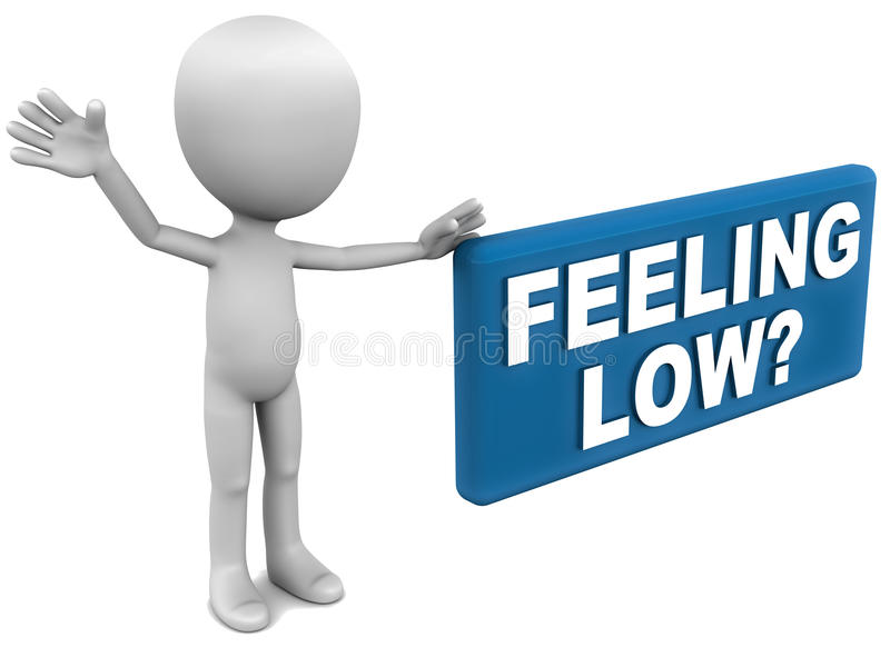 Download Feeling low stock illustration. Image of white, feeling - 28952511