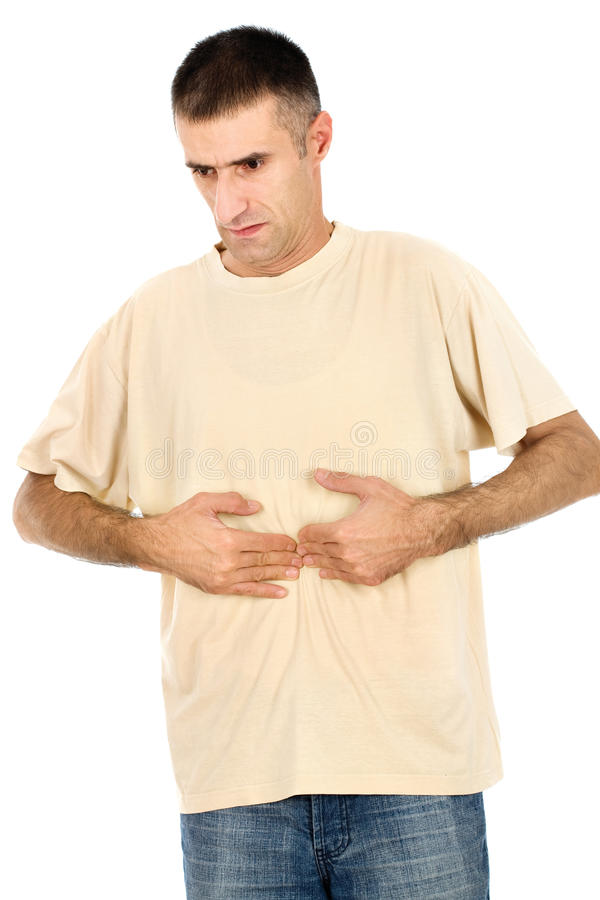 Download Feeling pain in stomach stock photo. Image of expression - 22171740