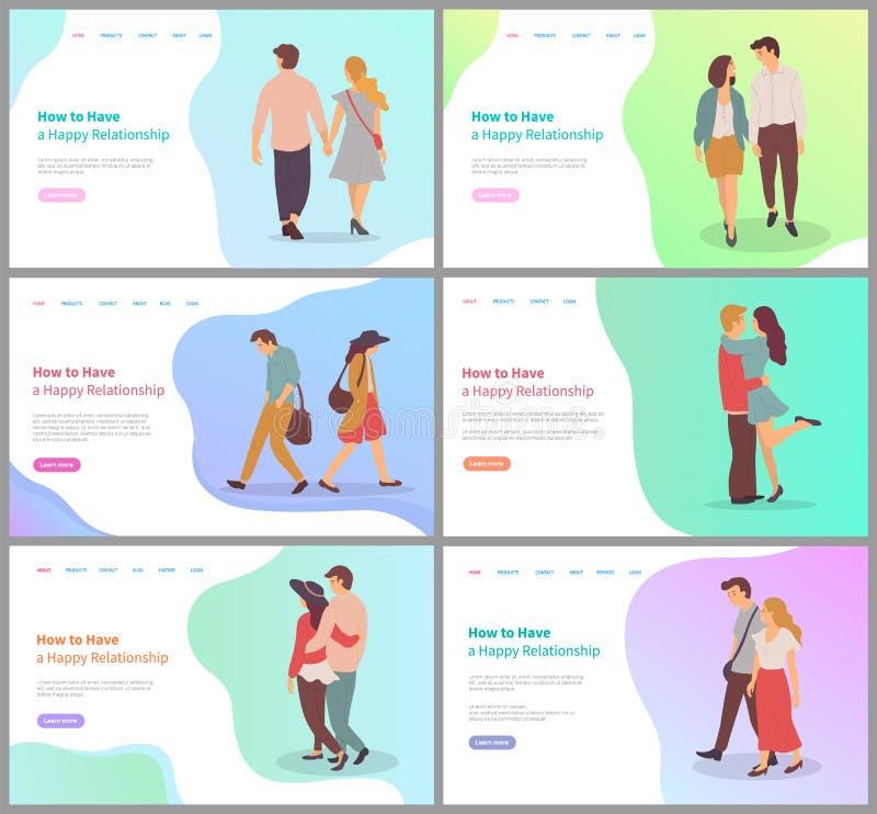 Feelings of Boyfriend and Girlfriend, Lover Vector vector illustration