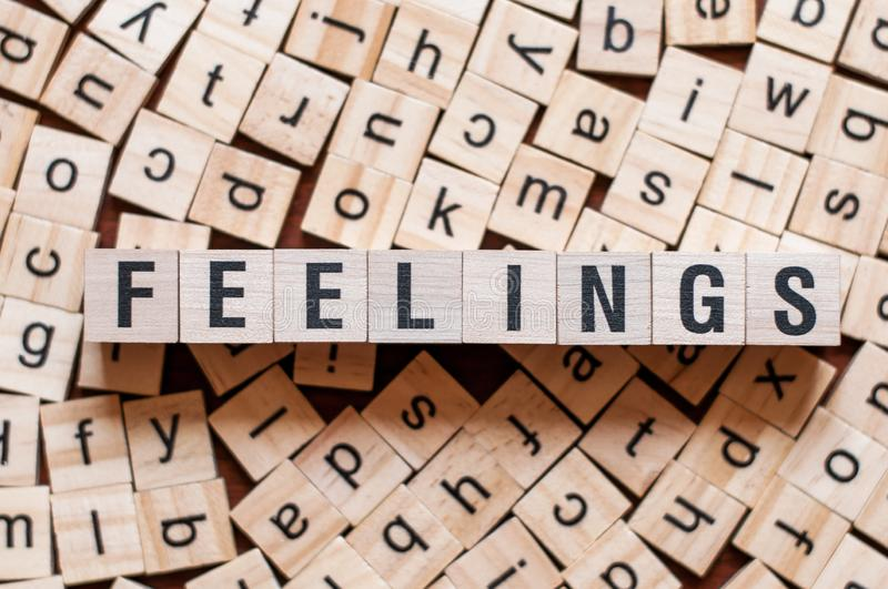 Feelings word concept royalty free stock image