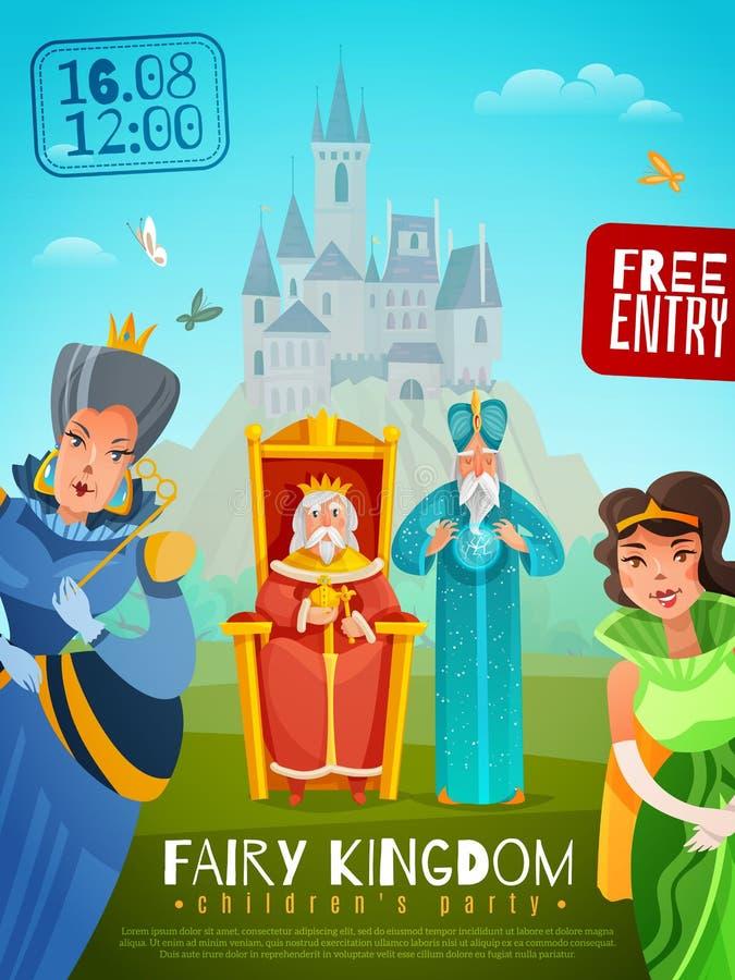 Feenhafte Königreich-Vektor-Illustration vektor abbildung
