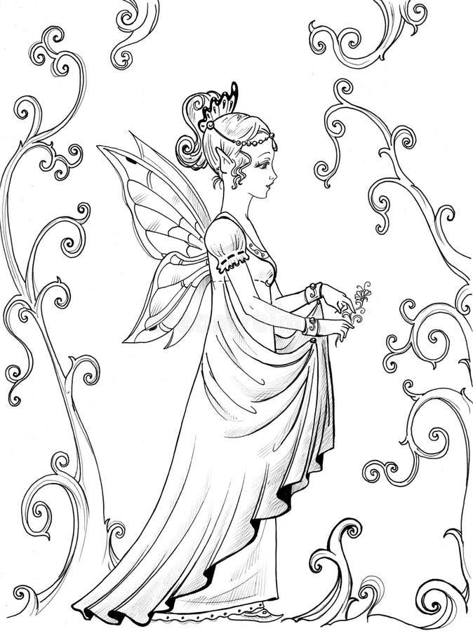 Feenhafte Prinzessin stock abbildung