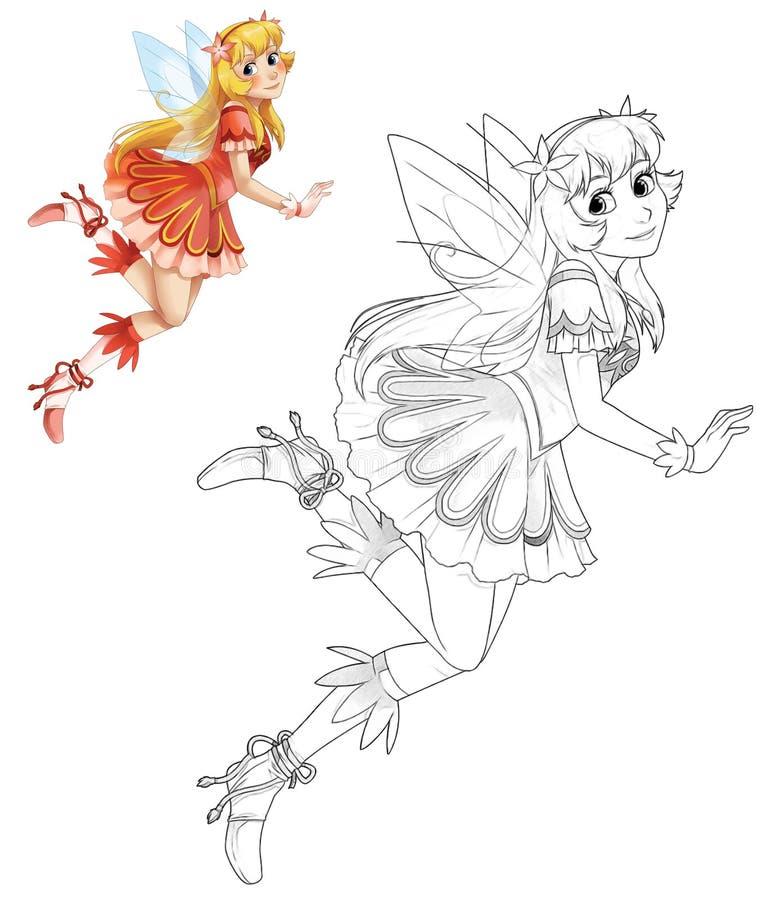 Feenhafte Prinzessin der Karikatur - lokalisiert stock abbildung