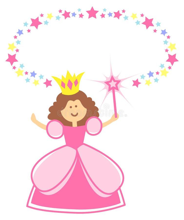 Feenhafte Prinzessin mit Stern-Rand vektor abbildung