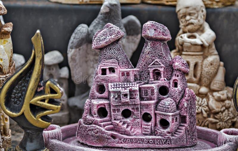 feenhafter Kamin keramische cappadocia Andenken stockbilder