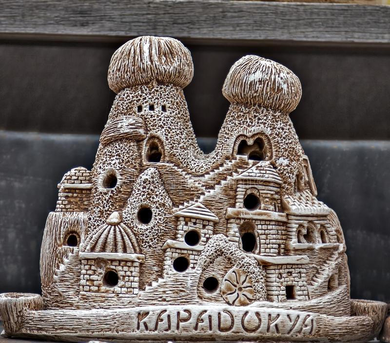 feenhafter Kamin keramische cappadocia Andenken lizenzfreies stockfoto