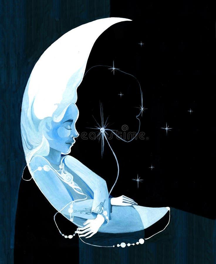 Feenhafter Mond stock abbildung