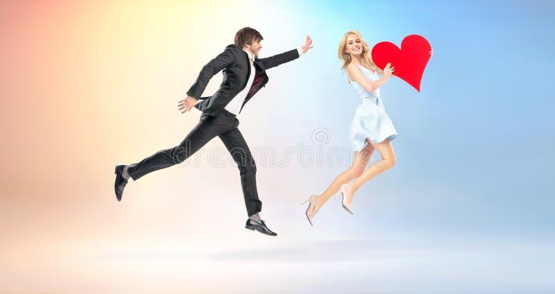 Feenhaftes Bild von Leuten in der Liebe stockbilder
