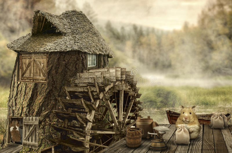 Feenhaftes Haus (Mühle) lizenzfreie abbildung