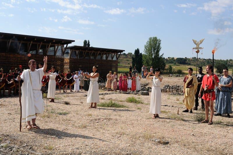 FEEST van BACCHUS. Burgos .SPAIN royalty-vrije stock afbeeldingen
