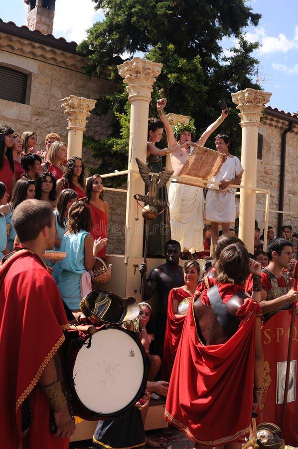 Feest van Bacchus.SPAIN royalty-vrije stock afbeelding