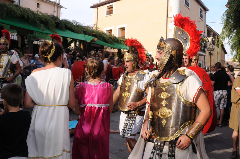 Feest van Bacchus.SPAIN royalty-vrije stock foto's