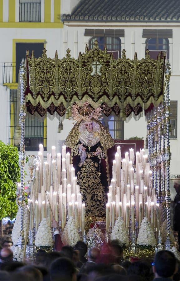 Feest van de Heilige week of de Pasen in de stad van Sevilla royalty-vrije stock fotografie