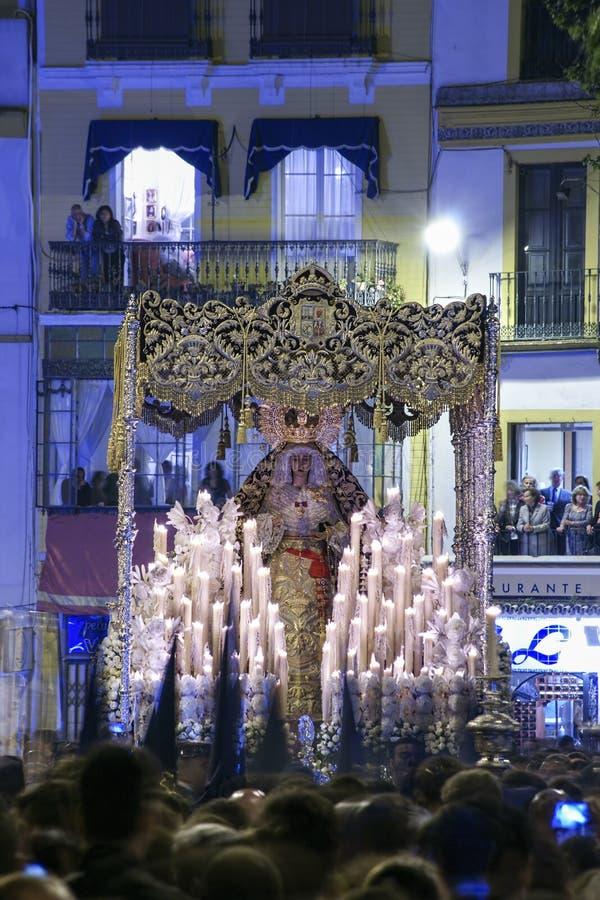 Feest van de Heilige week of de Pasen in de stad van Sevilla royalty-vrije stock foto's