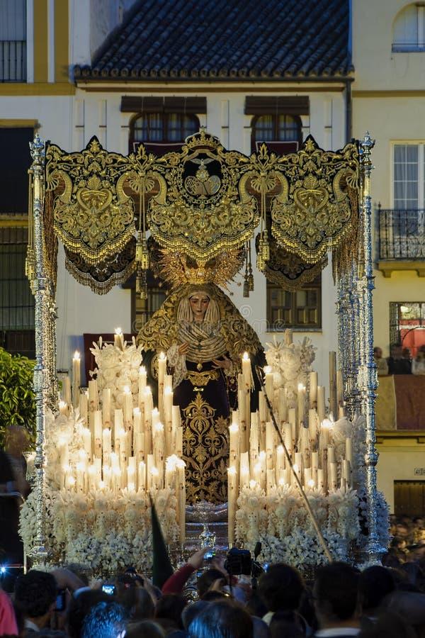 Feest van de Heilige week of de Pasen in de stad van Sevilla royalty-vrije stock afbeelding