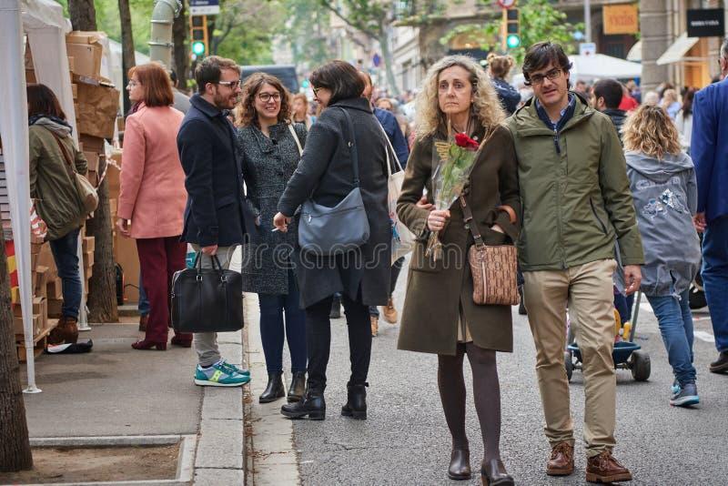 Feest van heilige Jordi, patroonheilige van Cataloni? stock afbeelding