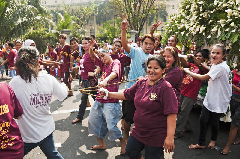 Feest van Zwarte Nazarene stock foto